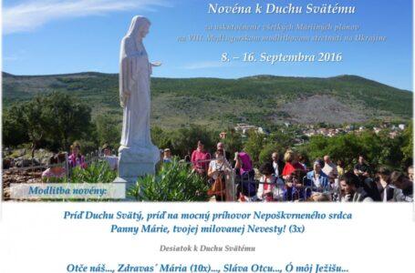 Novéna pred modlitbovým stretnutím na Ukrajine, 8. – 16. septembra