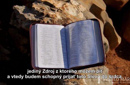 Sväté písmo – päť kameňov z Medžugoria