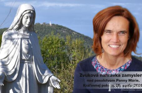 Zvuková nahrávka zamyslenia nad posolstvom z 25.4.2020 (Terka Gažiová)