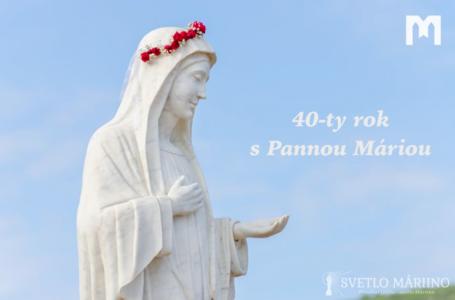 40-ty rok s Pannou Máriou