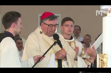 31. Mladifest: Svätá omša, kotrú celebroval kardinál Vinko Pulič, 05.08.2020