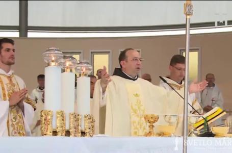 Svätá omša, ktorú celebroval provincial páter Miljenko Šteko OFM, Mladifest, Medžugorie. 02.08.2020