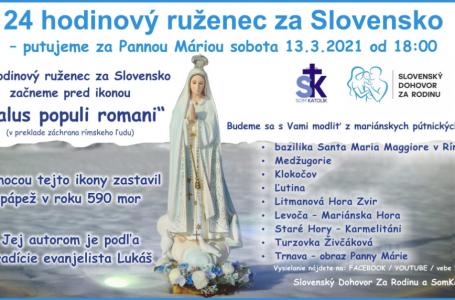 "24-hodinový ruženec za Slovensko začneme pred ikonou ""Salus populi romani"" v Ríme."