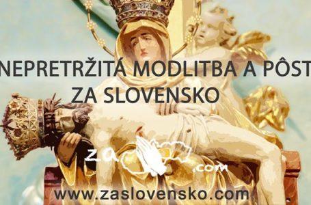Nepretržitá modlitba a pôst za Slovensko