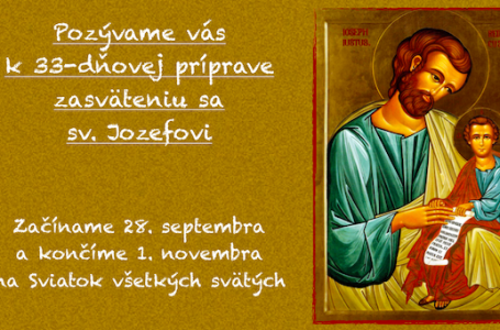 33-dňová príprava k zasväteniu sa sv. Jozefovi